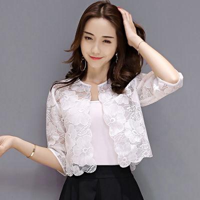 泡泡袖上衣女学生韩版夏品牌女装防�鹨潞�版女披风外套生上版宽松