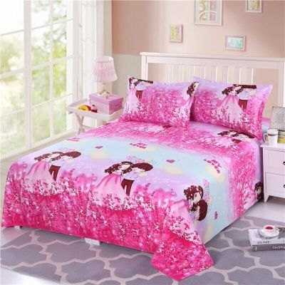 粗布床单单件毛巾被双人被单件套床罩夏凉单被单小毛毯粗布套.米