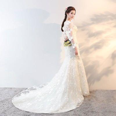 Wedding dress新娘结婚婚纱礼服201新款夏鱼尾拖尾显瘦修身女