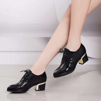 舒适女单鞋粗跟春秋单鞋工装鞋职业空姐鞋工作鞋女黑色正装高跟鞋