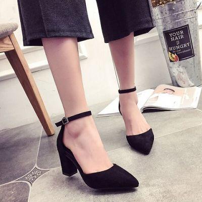 鞋子凉鞋女凉女夏外穿时尚低跟女鞋高跟鞋凉鞋细跟跟凉韩版原宿风