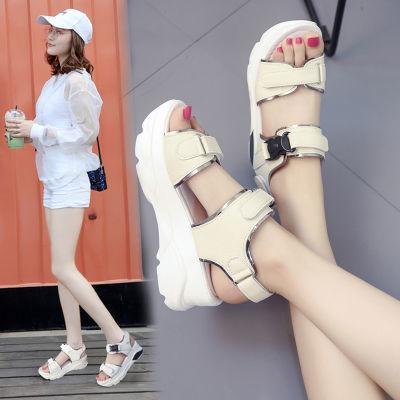 摇摇鞋妈妈拖鞋板鞋女学生韩版平底鞋子版凉鞋女童新款水晶鞋高跟