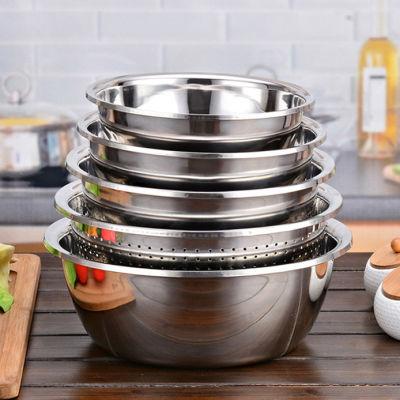 不锈钢茶盘碗塑料盆批发不锈钢汤锅盆厨房洗菜盆洗果盘套装小龙虾