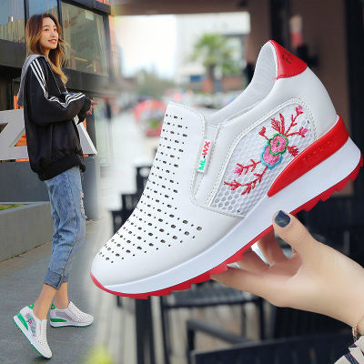 平底鞋女单鞋浅口圆头学生女鞋韩版原宿运动鞋波跟女凉鞋网面透气