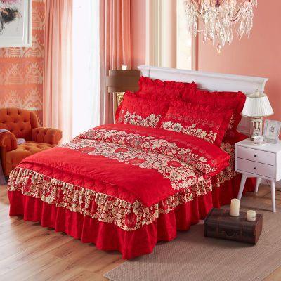 床单单人床女神被套单件学生宿舍被罩水洗棉绣花件套北欧风花布料