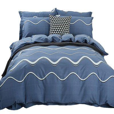 美容院用品粗布枕套北欧风初中用品外贸尾单粗布件套夏季床单欧式
