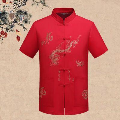 古风衣服汉服武术服装套装装分袖中年男装夏装舞台服装世里台古装