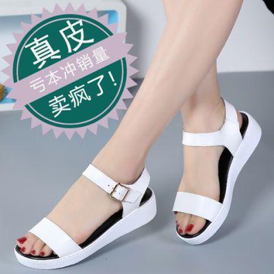 猫跟凉鞋女娃娃衫女学生韩版夏网眼鞋女包头版洞洞英伦风女鞋夏季