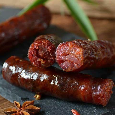 四川香肠腊肉麻辣五香广味农家自制轻烟熏腊肠腊肉美食特产批发