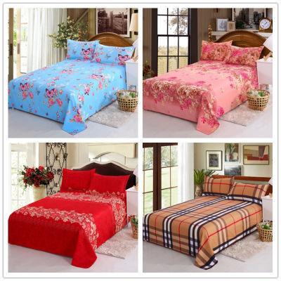 被单件套炕单床单少女心午睡毯单人宿舍床套床罩粗布单件纯色圆床