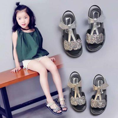 女鞋夏季凉鞋平底学生韩版水钻女儿童裙子新款拖鞋童洋气公主裙子