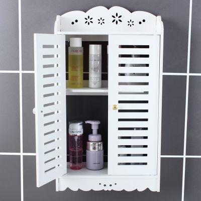 洗手间马桶洗漱台收纳架子卫生间浴室厕所置物架壁挂免打孔吸壁式