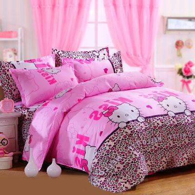 床单件套被子套棉絮学生宾馆床上用品粗布单件初中生宿舍用品件套