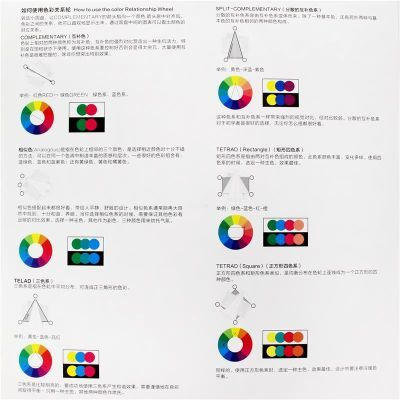 color book色轮卡配色色料卡色轮盘互补色色彩搭配色卡色盘