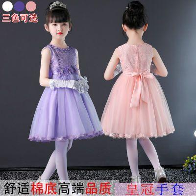 小女孩裙子童装内搭吊带雪纺网纱仙女裙裙大童装女夏装时尚连衣裙