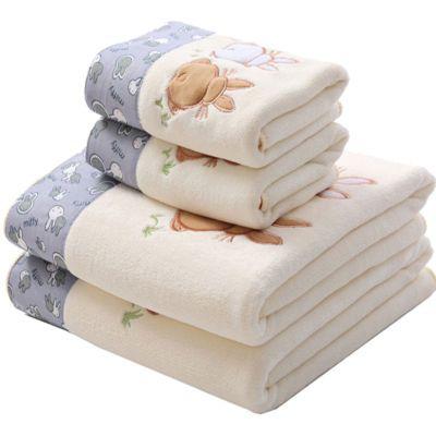 【浴巾+毛巾套装】比纯棉全棉柔软男女成人情侣儿童超强吸水速干