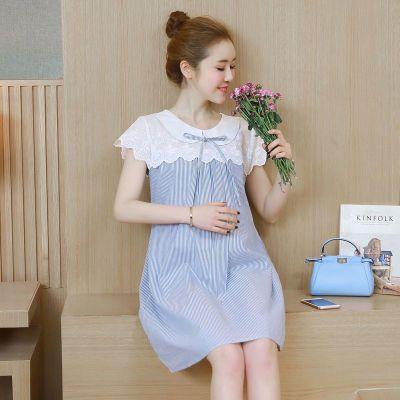 F-孕妇连衣裙夏装韩版套装时尚新款宽松短袖孕妇装夏棉怀孕期孕妇