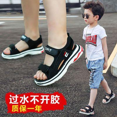 男童凉鞋新款岁女孩凉鞋厚底凉鞋女夏外穿凉学生韩版平底民族风步