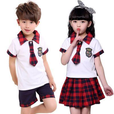 儿童字肩连衣裙儿童球服毕业服小学生纱裙创造同款演出服服装唐服