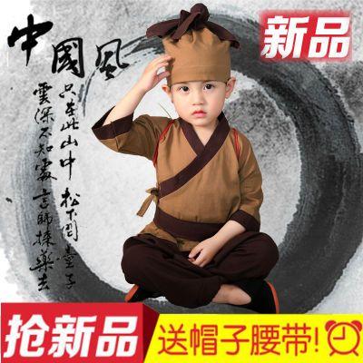 小药童衣服幼儿童古装汉服中国风创意宝宝拍照服装店小二儿童服装