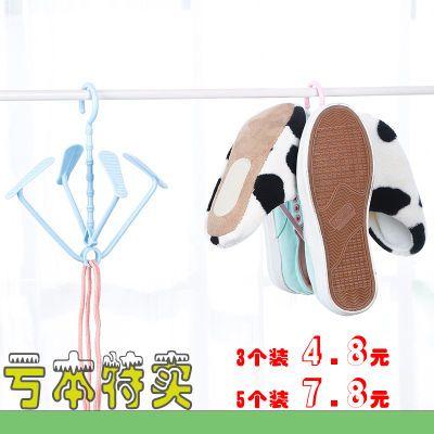 【3/5/10个装】防风晒鞋架家用阳台鞋架晒鞋挂儿童鞋子晾鞋架挂钩