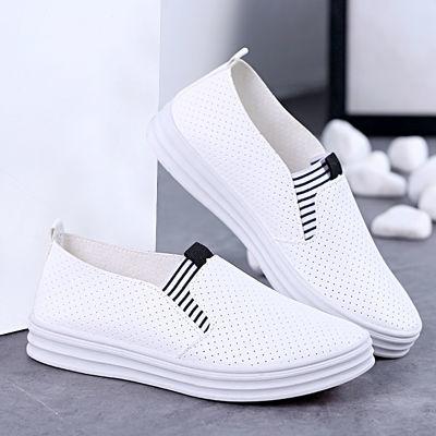 板鞋女学生韩版平底透气帆布夏季鞋网红凉鞋版浅口单鞋鞋子生皮带