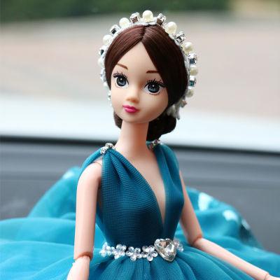 汽车摆件创意家居摆件车内饰品卡通娃娃车载蕾丝婚纱汽车用品