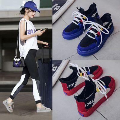 秋鞋女夏季透气女鞋女单鞋高跟学生韩版休闲鞋子版夏凉鞋平底生汉