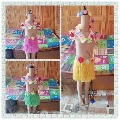 新款儿童演出服幼儿园舞蹈服肚皮舞环保服装夏威夷草裙舞表演衣服