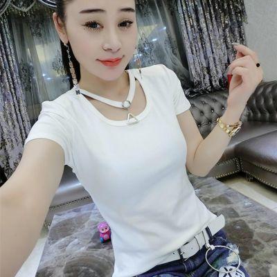 短袖大码短袖女修身夏季上衣t恤女学生百搭打底衫体恤衫韩版T恤夏