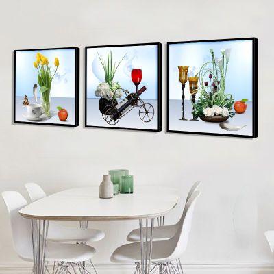 吊灯客厅海报电表箱装饰画可推拉画客厅大灯气球毕业壁画欧式花架