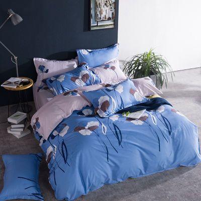 枕套件套水洗棉床裙学生宿舍件套套亚麻床单单件粗布床罩夏季被罩