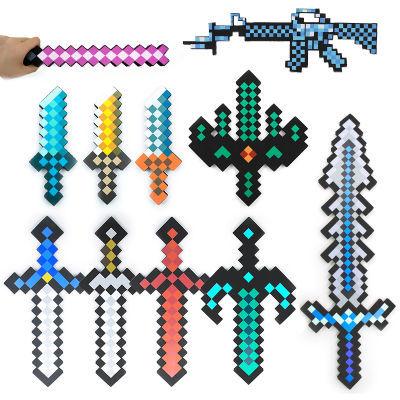 minecraft我的世界游戏周边钻石剑玩具模型泡沫剑武器火炬道具