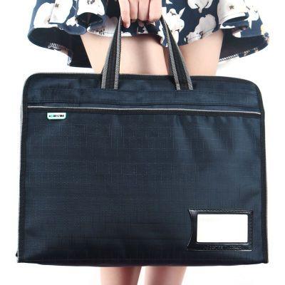 大容量手提包A4文件袋防水资料袋拉链袋文件包男女士公文包会议袋