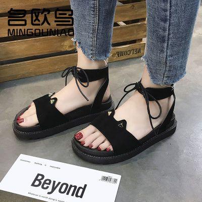 凉鞋女百搭夏学生女休闲室外季新款鞋透气韩版软底女夏季甜美防滑