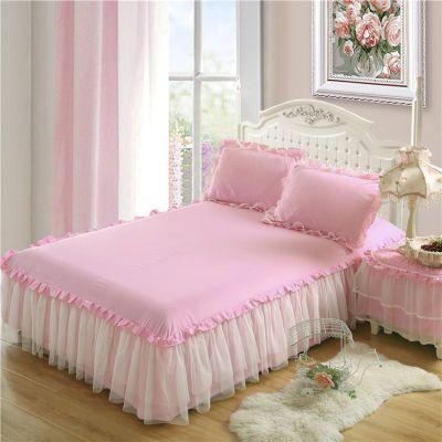 夏天床裙粗布床单.米床单蕾丝件套床笠单件家纺被罩美容套笠翁对