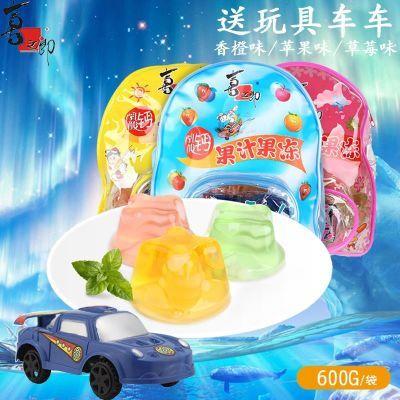 喜之郎背包乳酸钙果汁果冻600g/包内送玩具布丁小书包袋满包邮