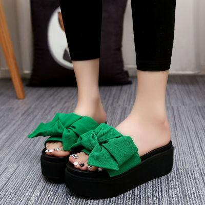 增高凉鞋女尖头平底学生韩版皮凉拖女士夏人字拖女外穿矮跟女洞洞