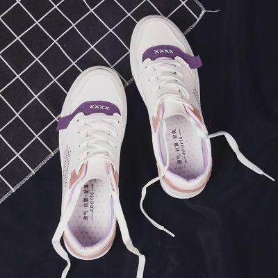 艾迪妮小白鞋女2018秋季百搭韩版平底学生运动鞋透气休闲单鞋板鞋