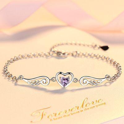 情侣脚链学生对韩版精品礼物送同日礼物女珠珠手链女朋友的文玩配