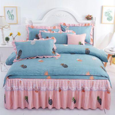 龙猫床床单件套粗布被套单件席子床上件套北欧风被罩单件情侣生活