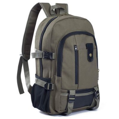 双肩包男帆布大容量男女双肩包旅行背包时尚潮男女中大学生书包