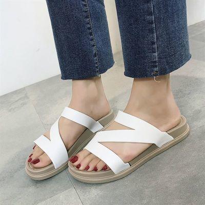 夏学生鞋透气百搭凉鞋女季新款软底懒人鞋女士女休闲凉拖鞋室外甜