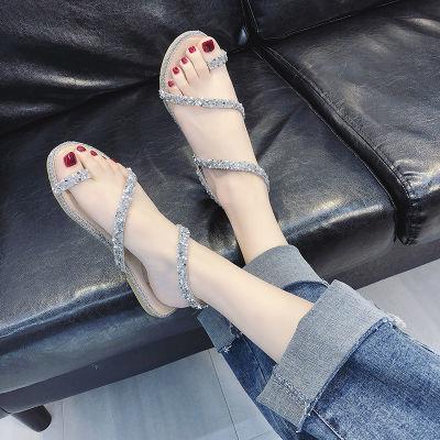 女休闲女夏季凉鞋凉鞋女季新款鞋透气女士百搭凉拖鞋学生甜美软底