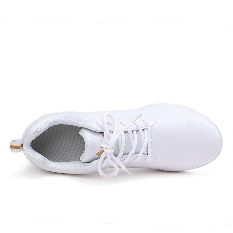 便宜的阿乐威舞蹈鞋成人广场舞女鞋真皮白色软底水兵舞鞋子运动跳舞女鞋