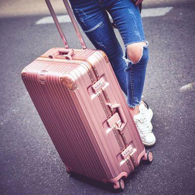 行李箱女学生拉杆箱密码箱男20铝框万向轮24旅行箱包26皮箱子29寸