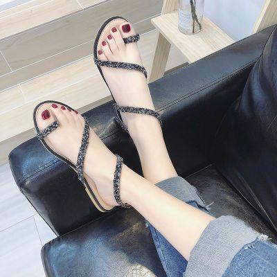 韩版夏学生凉鞋时尚季新款女夏季女士防滑女休闲凉鞋女软底室外懒