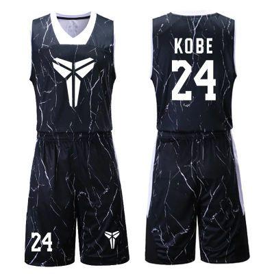 黑曼巴科比24号球衣定制篮球服套装比赛训练服队服透气吸汗DIY印