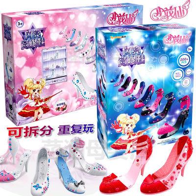 公主假高跟鞋仿真�品�和���意diy手工制作女孩�^家家玩具材料包