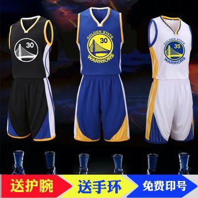 库里篮球服套装男勇士队球衣库里短袖篮球服杜兰特球衣汤普森球服